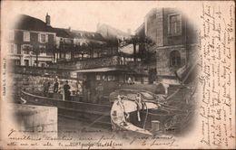 ! 70 Old Postcard Port Sur Saone , Le Canal, Ship, Schiff, Kanal, 1903 - France