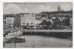 BOULOGNE SUR MER - N° 183 - LE PONT MARGUET AVEC VIEILLES VOITURES ET LA VILLE - CPA NON VOYAGEE - Boulogne Sur Mer