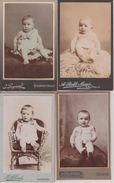 Lot 10 Photos Adorables Bébés Babies Format CDV  Bon état Dos Scannés éditeurs Divers Bon état - Albums & Collections