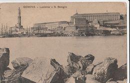 13215) GENOVA LANTERNA E SAN BENIGNO CASERME NON VIAGGIATA MA 1910 CIRCA - Genova