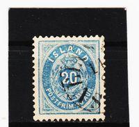 MAG1196  ISLAND 1882  Michl  14 B  Used / Gestempelt  ZÄHNUNG Siehe ABBILDUNG - 1873-1918 Dänische Abhängigkeit