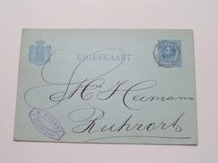 P. Engers Rotterdam -> Ruhrort - Anno +/- 1900 ( Zie/voir Foto Voor Details ) ! - Entiers Postaux