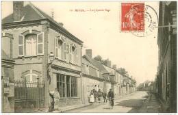 28 ARROU. Café De Paris Sur La Grande Rue 1909 - France