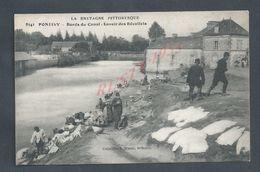 MILITARIA CPA MILITAIRE DE PONTIVY BORDS DU CANAL LAVOIR DES RECOLLETS SOLDATS NON ECRITE : - Guerre 1914-18