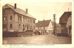 CPA Bollwiller La Mairie Et Le Monument Aux Morts - Autres Communes