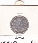 SERBIA  1 DINAR   ANNO 1904  COME DA FOTO - Serbia