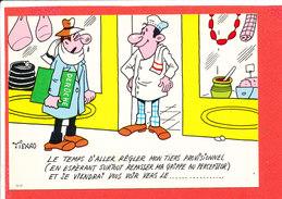 ROTISSERIE  Illustrateur TIENNO Cp Humour  Animée Au Verso Avis De Passage Deroche CHARENTON - Charenton Le Pont