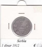 SERBIA  1 DINAR   ANNO 1912  COME DA FOTO - Serbie