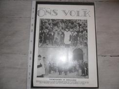 """Origineel Knipsel ( 208 ) Uit Tijdschrift """" Ons Volk Ontwaakt """"  :  Hoegaarde  Hougaerde  1934 - Vieux Papiers"""