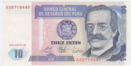 Peru P 129 - 10 Intis 1987 - UNC - Perú