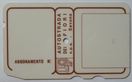 ITALY - Charge Card - Savona - Autostrada - Pikappa Logo - Brown - Used - Other Collections