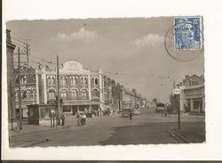 CPA ,D.59.  N° 91 ,Valenciennes-Anzin , La Croix D' Anzin , Vue De L' Avenue  Dampierre , Animée ,Ed. M -T. 1951 - Valenciennes