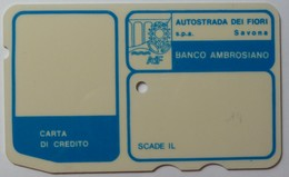 ITALY - Autostrada - Bank Credit Card - 1973 - Banco Ambrosiano - Used - Credit Cards (Exp. Date Min. 10 Years)