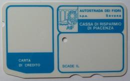 ITALY - Autostrada - Bank Credit Card - 1973 - Cassa Di Risparmio Di Piacenza - Used - Geldkarten (Ablauf Min. 10 Jahre)