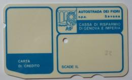 ITALY - Autostrada - Bank Credit Card - 1973 - Cassa Di Risparmio Di Genova E Imperia - Used - Credit Cards (Exp. Date Min. 10 Years)