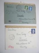 1943 , 2 Zensurbriefe In Die Schweiz Aus Heidelberg - Briefe U. Dokumente