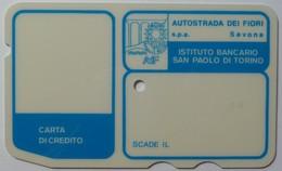 ITALY - Autostrada - Bank Credit Card - 1973 - Instituto Bancario San Paolo Di Torino - Used - Cartes De Crédit (expiration Min. 10 Ans)