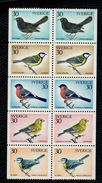 Svezia Sweden Schweden Suede 1970 Birds - Uccelli 5v Da Carnet Complete Set   ** MNH - Svezia
