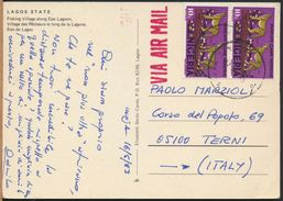 °°° 6597 - NIGERIA - LAGOS STATE - FISHING VILLAGE ALONG EPE LAGOON - 1983 With Stamps °°° - Nigeria
