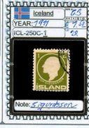 EUROPE:ICELAND #FORMER DENMARK#CLASSIC# (ICL-250C-1) (22) - Oblitérés