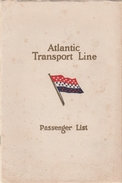 Paquebot SS Minnekahda 1930 - List Of Passengers Atlantic Transport Line - New York Plymouth Boulogne London - Boats