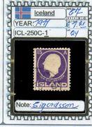 EUROPE:ICELAND #FORMER DENMARK#CLASSIC# (ICL-250C-1) (24) - Oblitérés