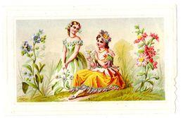 Chromo Imp. Appel Chocolat Besnier, Femmes, Fleurs - Chocolade