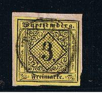 Wurtemberg  --  N 2  //  3 K Jaune  -  Obl Sur Fragment - Wuerttemberg