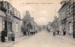 27 - EURE / Acquigny - 27579 - Route De Gaillon - Beau Cliché Animé - Acquigny
