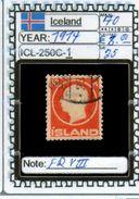 EUROPE:ICELAND #FORMER DENMARK#CLASSIC# (ICL-250C-1) (25) - Oblitérés