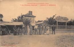 27 - EURE / Amfreville Sous Les Monts - 27598 - Au Pêcheur Matinal - Maison GERARD - Beau Cliché Animé - Défaut (pli) - Acquigny