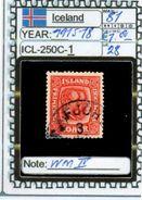 EUROPE:ICELAND #FORMER DENMARK#CLASSIC# (ICL-250C-1) (28) - Oblitérés