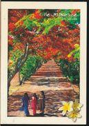 °°° 6600 - MAURITIUS - FEMMES EN SARIS SOUS LES FLAMBOYANTS - 2002 With Stamps °°° - Mauritius