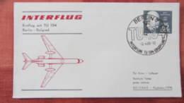 """DDR: Luftpost-Brief Mit 25 Pf """"Semmelweis"""" Mit SoSt. Berlin-Belgrad Erstflug TU 134 Vom 3.4.69 Knr:1389 - [6] République Démocratique"""