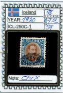 EUROPE:ICELAND #FORMER DENMARK#CLASSIC# (ICL-250C-1) (39) - Oblitérés