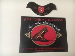 5154 - Pinot Noir De Chardonne 1984 Au Coin Des Serpents Suisse - Etiquettes
