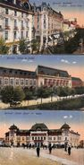 Lot Of 3 Postcards Bucuresti (animation, Tramway, Colors,...) - Roumanie