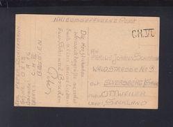 Kriegsgefangene Post Lager CH VI - Postdokumente