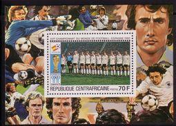 Soccer World Cup 1982 - C.-AFRICA - S/S De Luxe MNH** - Coupe Du Monde