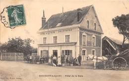 27 - EURE / Beaumont Le Roger - 27861 - Hôtel De La Gare - Beau Cliché Animé - Autres Communes