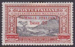 Italy-Colonies And Territories-Somalia S58 1924 Manzoni 20b On 50c Orange And Black, MH - Somalia