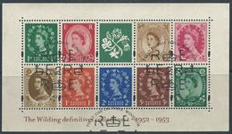 GROSSBRITANNIEN GRANDE BRETAGNE GB 2002 Wildings Definitives Collection I  SG MS2326 SC SH2086+2022-23 MI 2063-69+1986-8 - Hojas Bloque