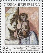 ** 912 Czech Republic - Frantisek Tichy, Clown With A Monkey 2016 Circus - Zirkus