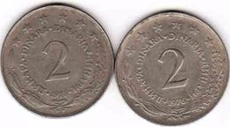 Yugoslavia 2 X 2 Dinar 1976, 1977 - Joegoslavië
