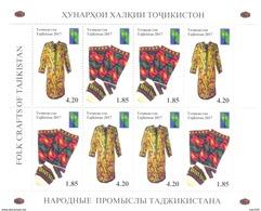 2017. Tajikistan, RCC, Folk Crafts Of Tajikistan, Sheetlet Perforated, Mint/** - Tajikistan