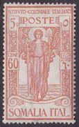 Italy-Colonies And Territories-Somalia S90 1926 Italian Colonial Institute,60c+5c Orange, MH - Somalia