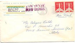 1972 Aereogramma Da USA Per Termini Imerese 01  017 - America Centrale