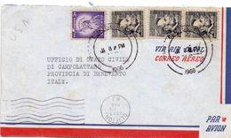 1972 Aereogramma Da USA Per Termini Imerese 02  017 - America Centrale