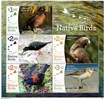 New Zealand 2017 MS MNH Recovering Native Birds Nestor Superbe New Zealand Kaka  Parrot - Papegaaien, Parkieten