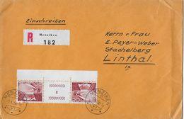 HEIMAT AARGAU → Einschreibe-Brief Von MENZIKEN Nach Linthal   ►SBK-S62 / 5.XI.56◄ - Kehrdrucke